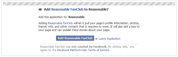 Add Resonable FanClub to My Page